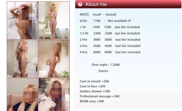 Очередная молодая блондинка предлагает интим услуги за 150 евро час